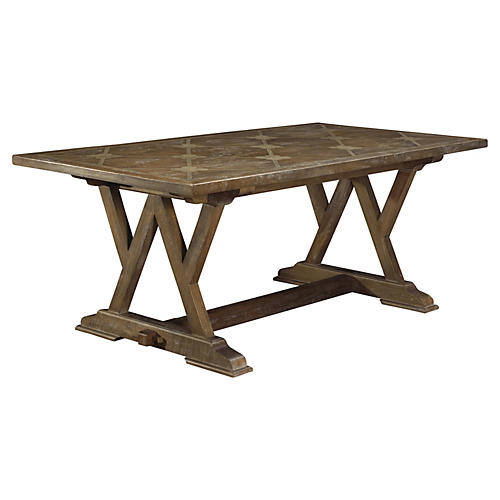"Cordoba 76"" Dining Table, Brown"