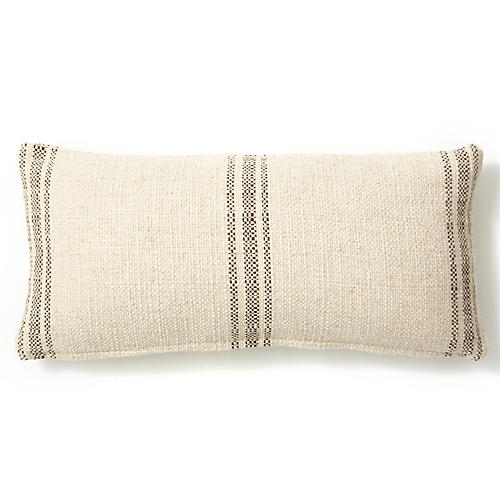 Classic Striped 10x20 Pillow, Godiva