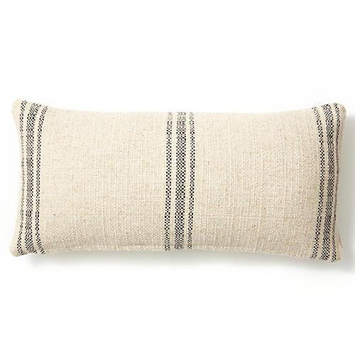 Classic 10x20 Linen Pillow, Black