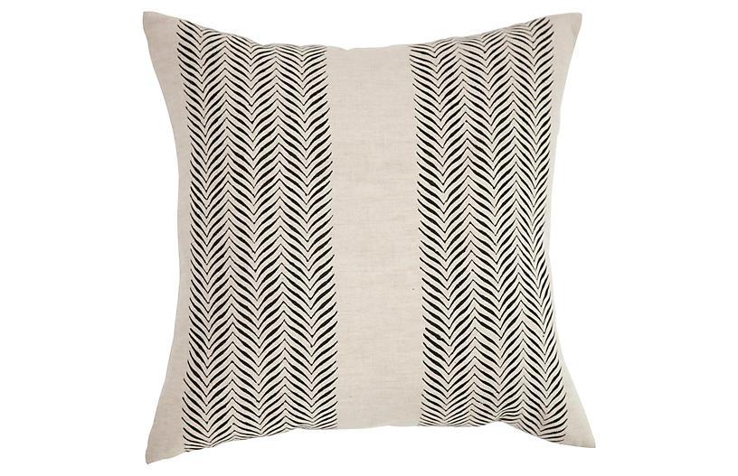 Printed 18x18 Linen Pillow - Natural