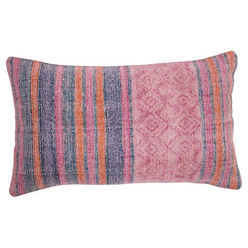 Clara 14x20 Cotton Pillow, Pink