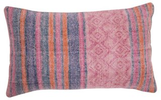 Clara 14x20 Cotton Pillow, Pink