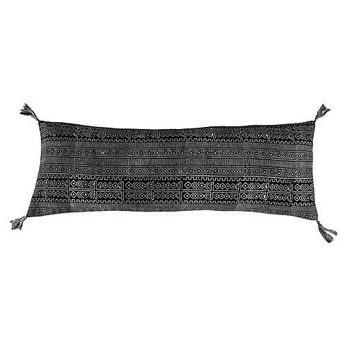Rimjhim Cotton Pillow, Black