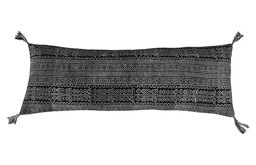 Rimjhim Cotton Pillow, Black