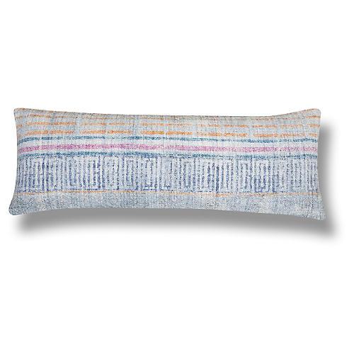 Daga 14x40 Cotton Pillow, Blue