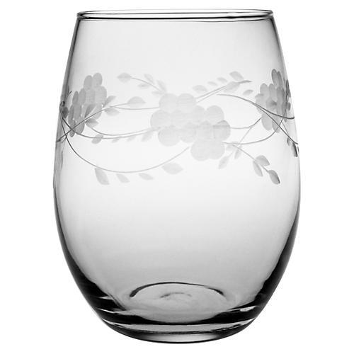 S/4 Adair Hand-Cut Stemless Wineglasses