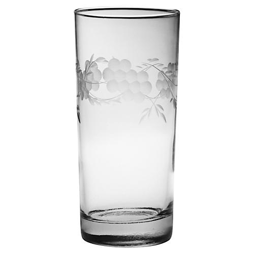 S/4 Adair Hand-Cut Highballs, 15 Oz