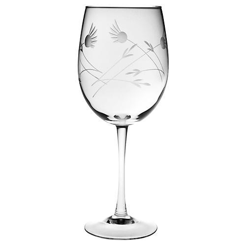 S/4 Margo Hand-Cut Wineglasses, 19 Oz