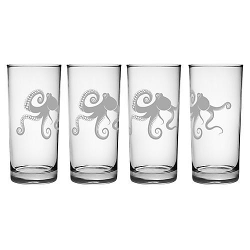 S/4 Kraken Highball Glasses