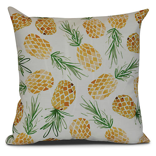 Pineapple Outdoor Pillow, Gold