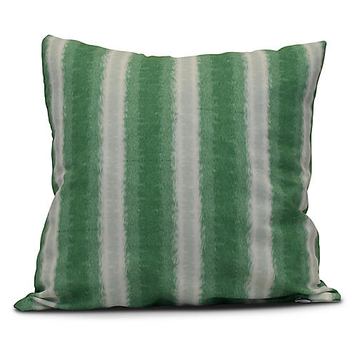 Sea Lines Outdoor Pillow, Green
