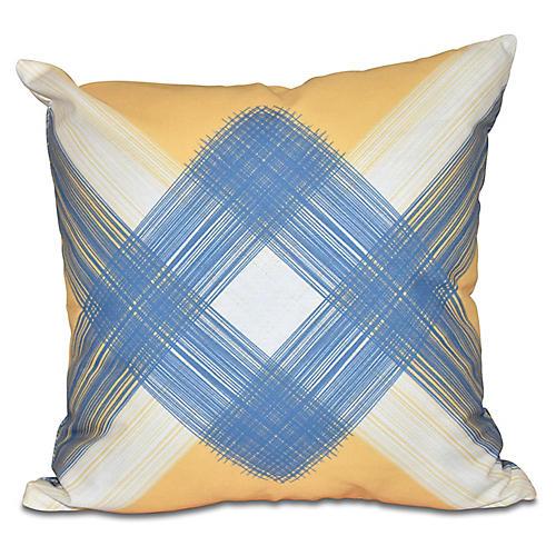 Geometric Outdoor Pillow, Yellow