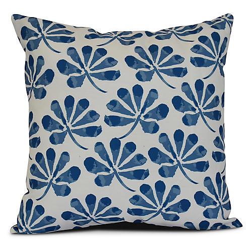 Petal Outdoor Pillow, Blue
