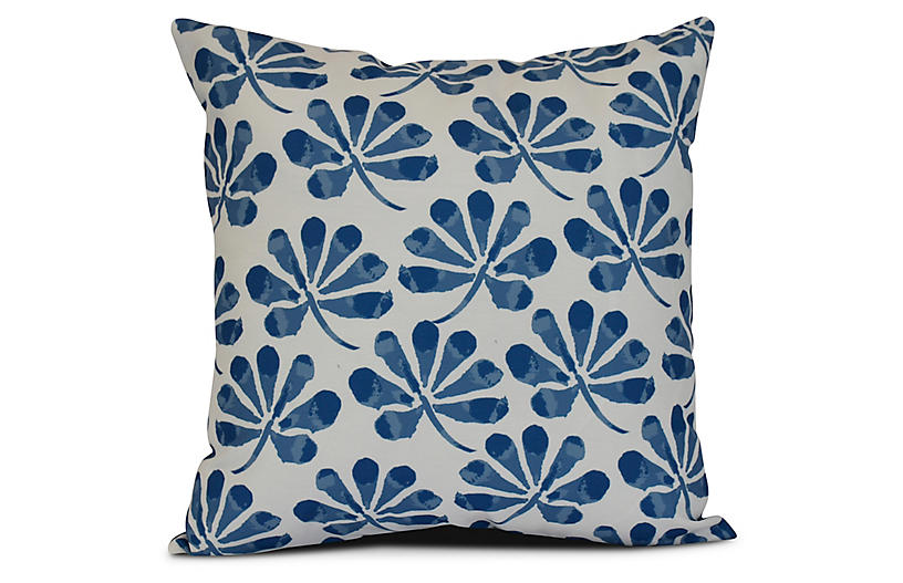 Petal Outdoor Pillow, Blue