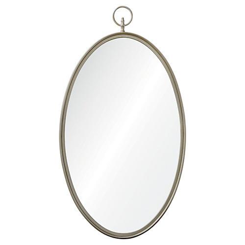 "Andrea 22""x40"" Wall Mirror, Silver"