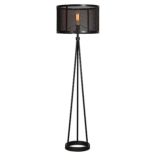 Troy Floor Lamp, Black