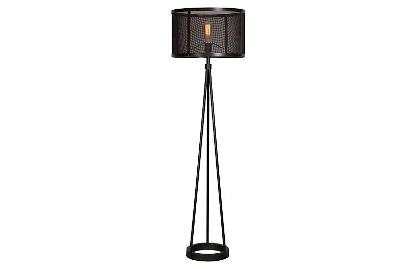 Troy Floor Lamp, Black