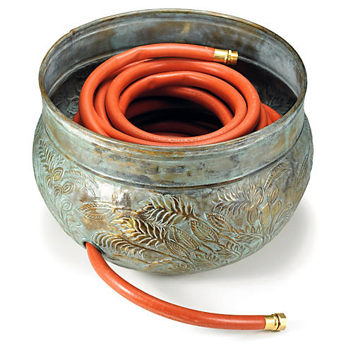 "20"" Key West Hose Pot, Verdigris"
