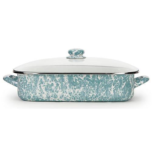 Enamelware Lasagna Pan, Aqua