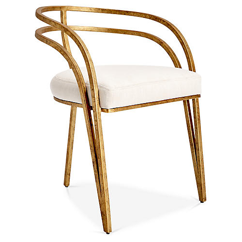 Rhodes Side Chair, Ivory