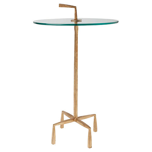 Corin Round Side Table, Gold