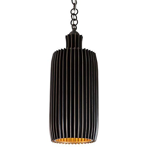 Crimp Bar 2-Light Pendant, Bronze