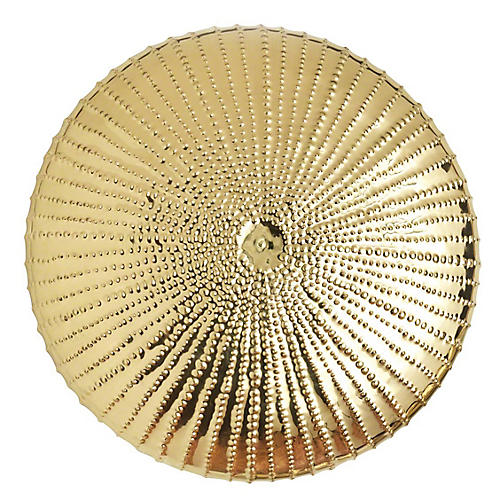 Sea Urchin Wall Sculpture, Gold