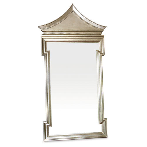 "Fincastle 45""x96"" Floor Mirror, Pewter"