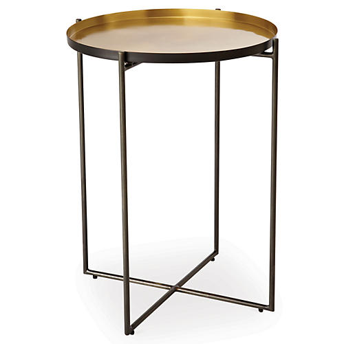 "Mistborn 19"" Side Table, Gold"