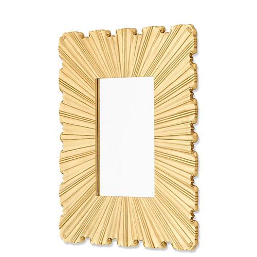 Reeded Mirror, Brass