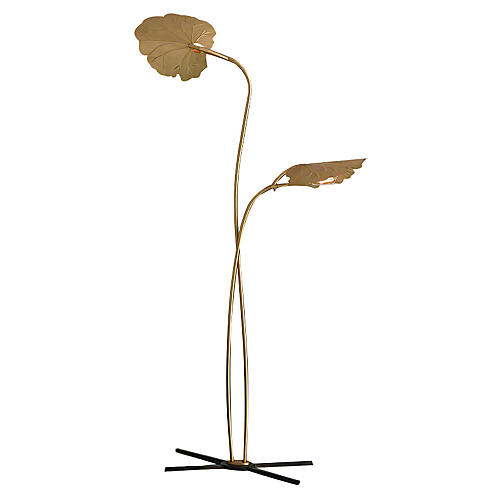 Dwell Rimini Floor Lamp, Brass