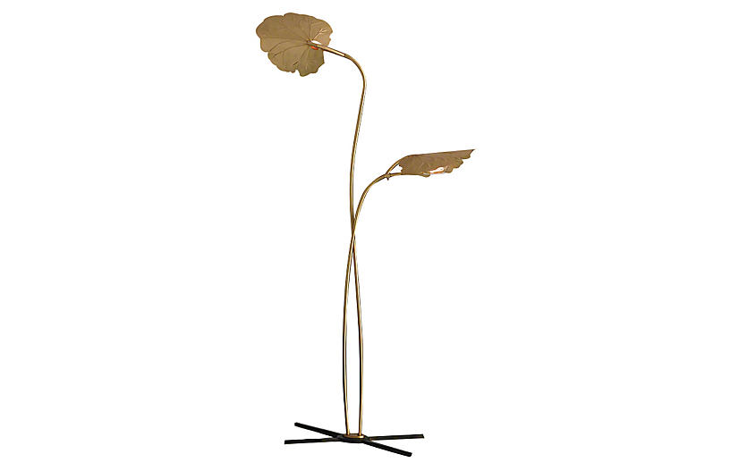 Dwell Rimini Floor Lamp - Brass - Global Views
