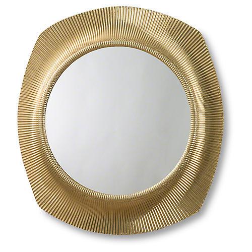 Fluted Mirror, Brass