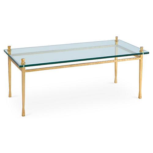 Quad Pod Coffee Table, Gold Leaf