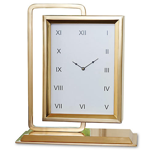 "19"" ""Time to Reflect"" Clock w/ Mirror"