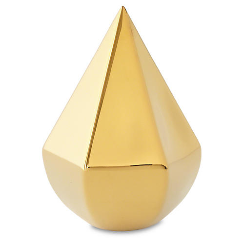 "6"" Koons Geometric Object, Gold"