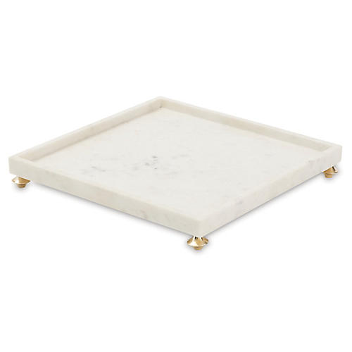 "16"" Quintessential Square Tray, White"