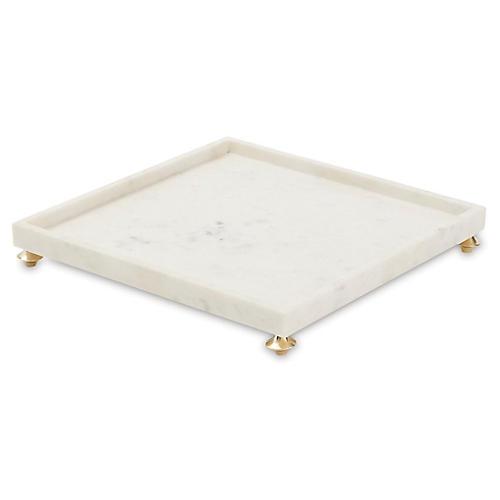 """16"""" Quintessential Square Tray, White"""