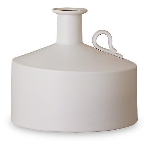"11"" Lunar Vase, Matte White"