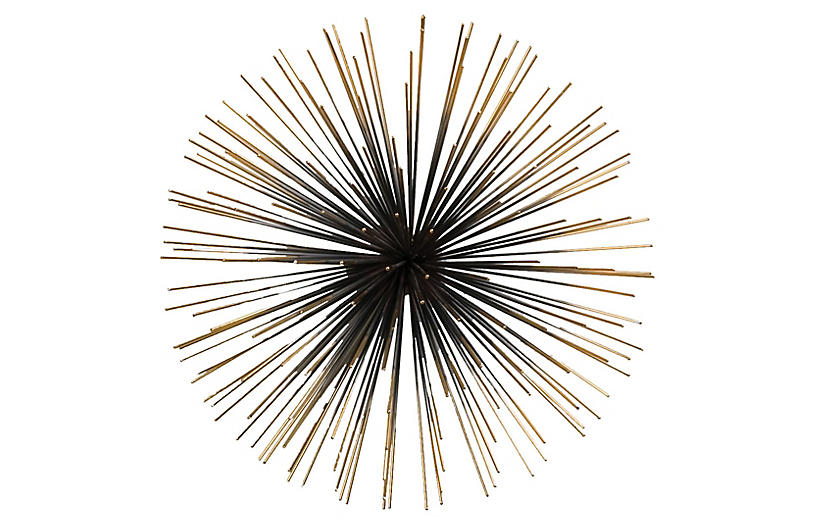 Boom Wall Sculpture, Black/Gold
