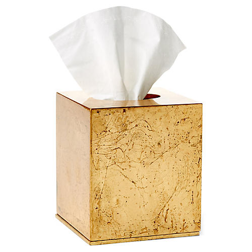 Luxe Tissue Box, Gold