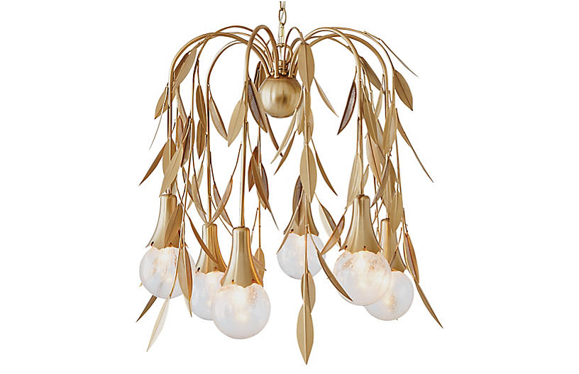 Vianne Chandelier - Brass/Clear - Global Views
