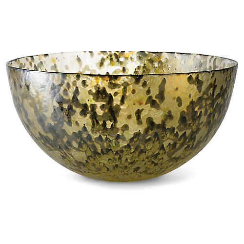 "19"" Gideon Tall Bowl, Molten Green"