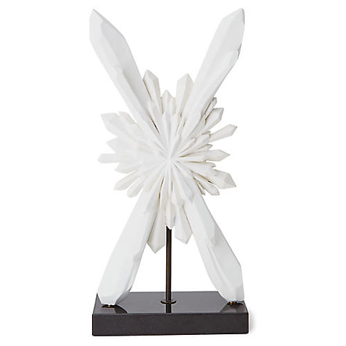 "29"" Facet Starburst Sculpture, White"