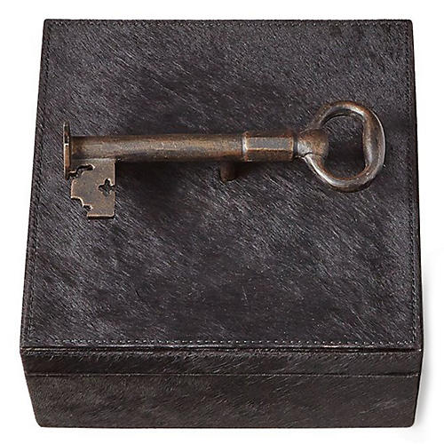 "9"" Sophia's Key Medium Box, Black"