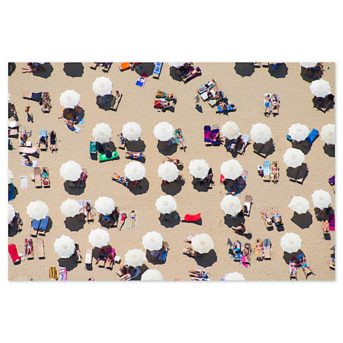 Gray Malin, Barcelona Beach Umbrellas