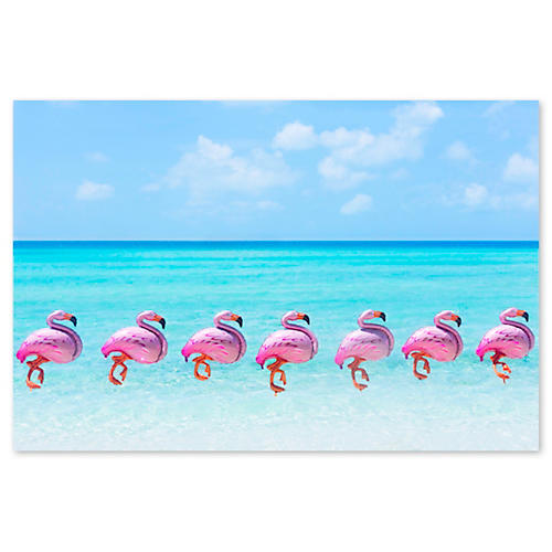 Gray Malin, Flamingo Balloons