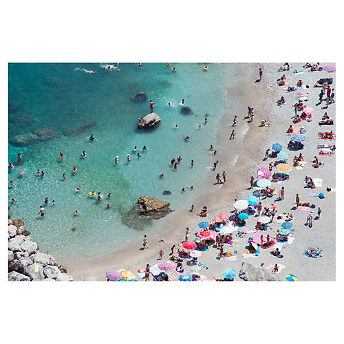 Gray Malin, Capri Pastel Beach Umbrellas