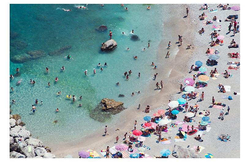 Gray Malin, Capri Pastel Beach Umbrellas