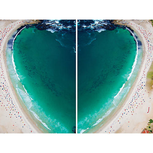 Gray Malin, Camps Bay Heart Diptych